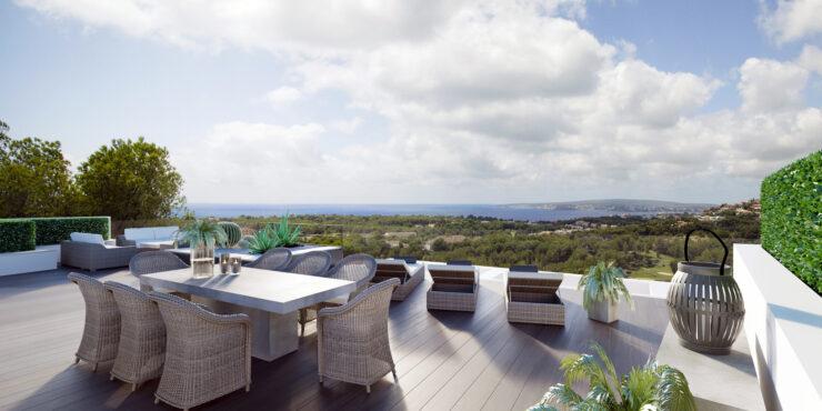 Neubau Villa mit Meerblick und Blick auf den Golfplatz